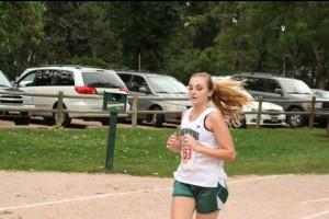 Team Captain Allie Eastep races towards the finish line