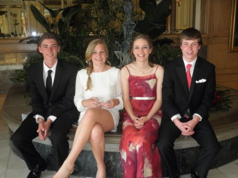 Left to right: Keagan Vernon (12), Emma Buth (12), Maddie Conarro (12), and Trevor Hunt (12).